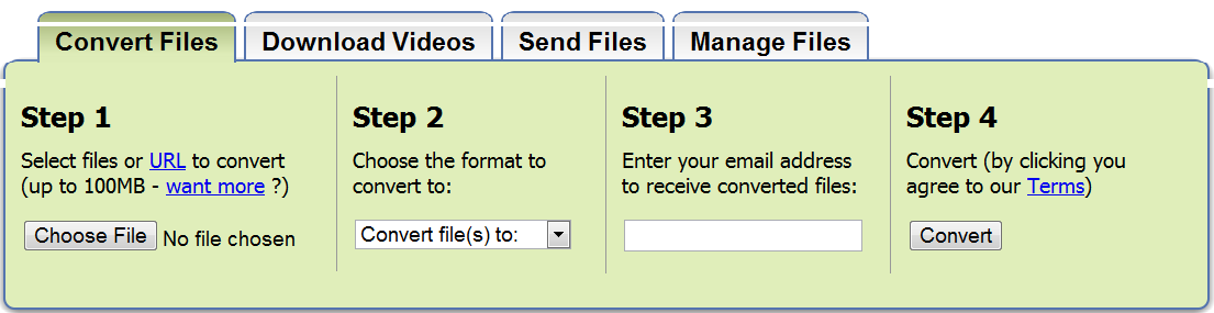 Convert your files – Zamzar | Handy IT tips and tricks